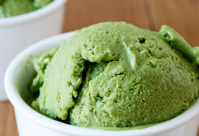 Receta: Helado de té verde