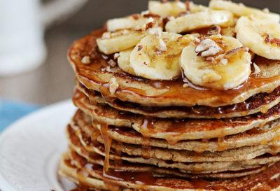 Receta: Pancakes de banana y avena