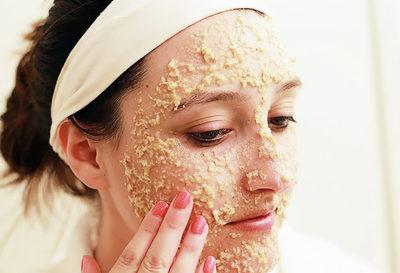 Exfoliante de avena para piel sensible